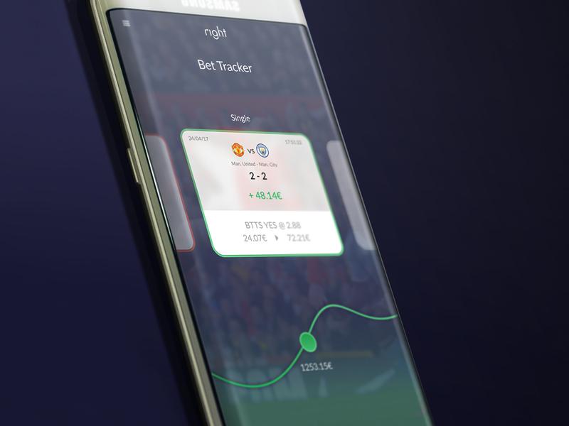 Bet tracker App by DanielOiteiro on Dribbble