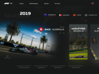 F1 TV - Redesign concept clean ux design ui streaming f1