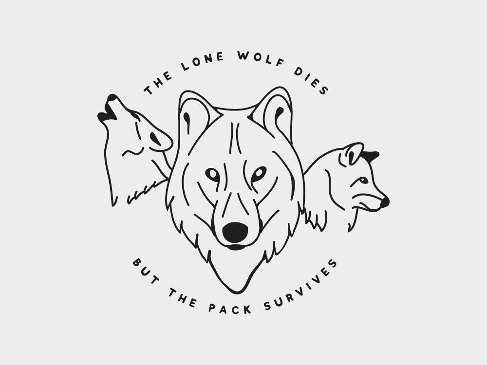 Wolfpack gameofthrones wolf design illustration