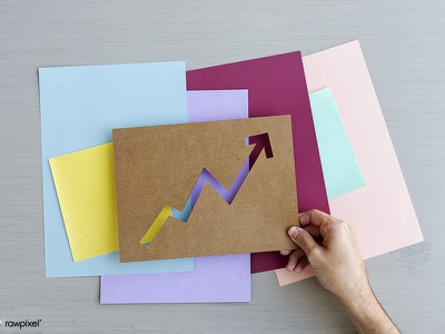 Going Up, Going Colorful! chart trend business colorful graph paper craft paper