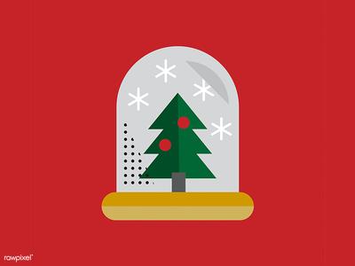 Christmas is coming! seasons greetings xmas festive design graphic design christmas tree christmas icons icon vector