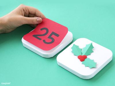 Happy Christmas :) handmade icon design seasons greetings festive holly calendar paper paper craft christmas