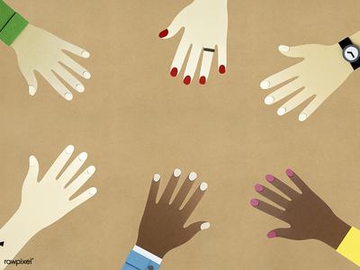 Papercraft Hands