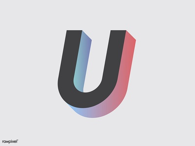 Only U graphic vector typography life letter font design alphabets