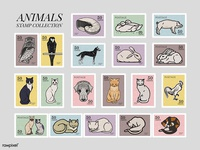 Stamps Collection: Vintage Animals