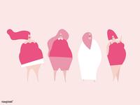 Happy plus size women <3