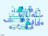Energy City Vector Pack