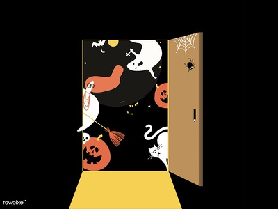Peek a Boo!! spooky ghostly halloween character people graphic graphic design icon illustration vector design