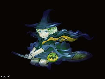 The Witch :) magic card witch halloween character graphic graphic design icon illustration vector design