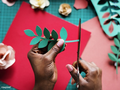 Paper Flowers: Behind The Scene rose floral leaf flower how to papercraft paper craft papercut paper graphic design design