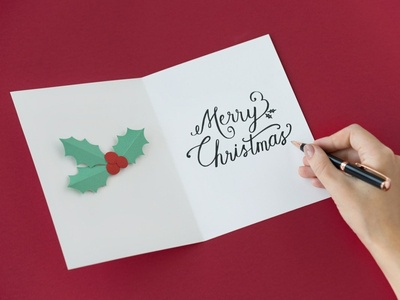 Merry Christmas typogaphy christmas merry christmas greeting card card paper craft paper art paper design