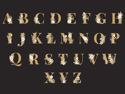 Floral Alphabet Set type art flower alphabet typography graphic graphic design illustration design vector