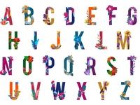Floral Alphabet Set