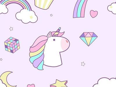 Cute Unicorn <3 kids rainbow fun cute unicorn pattern character graphic graphic design illustration vector design