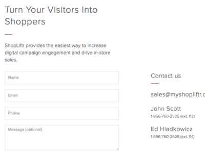 Contact Page - v1 - Website Redesign