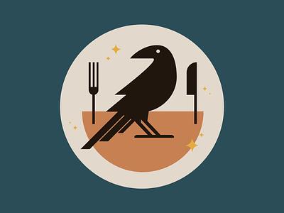 Illustration eatcrow crow design viget vector illustration icon