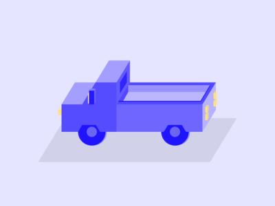 Isometric Truck Illustration