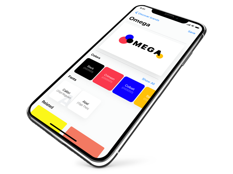 Brand Inspector Concept x ux ui search brand mockup color iphone ios11 flat discover app