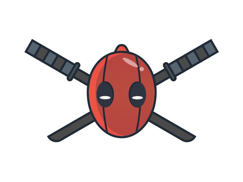 Deadpool Illustration cartoon marvel comic sticker hero kantana wilson wade deadpool