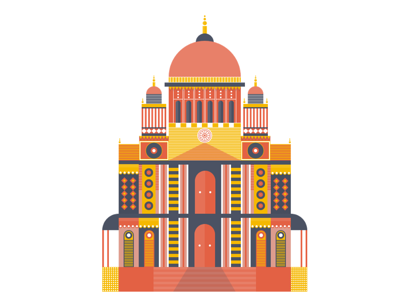 Cathedral Illustration temple travel paul st. pattern london illustration europe england church cathedral building