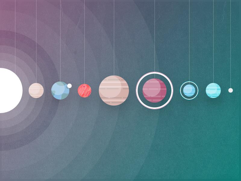 Space Illustration texture sun earth color minimal 3d illustration planet space solar