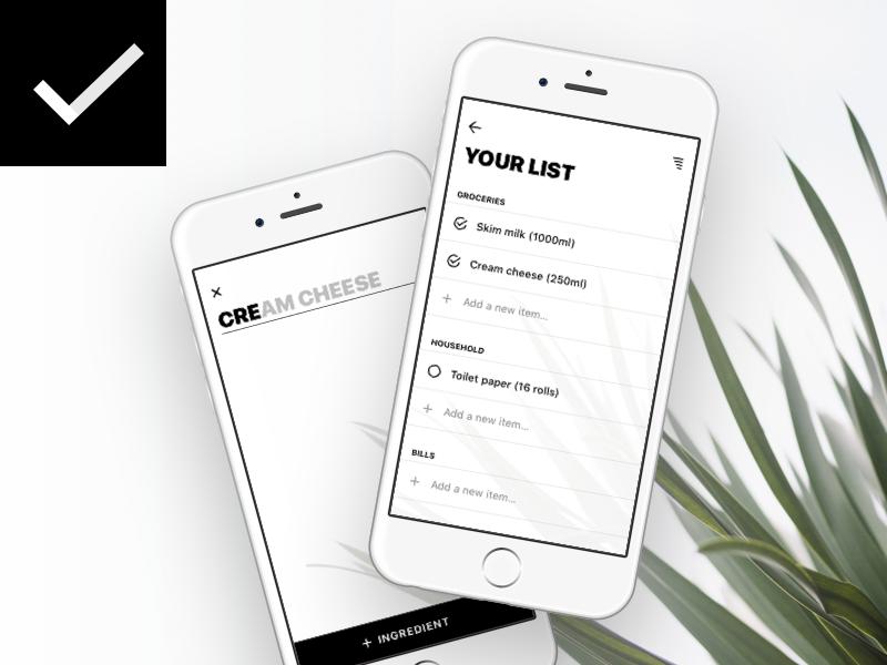 Minimal To-Do List ui light white minimal clear do to task app iphone ios list