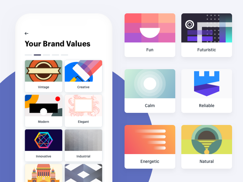 Brand Value Illustration Concept ux ui illustration grid iphone icon hatchful filter color branding app ios