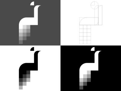 Pixel Peacock Logo Rebound