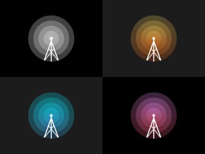 Minimal Radio Illustration