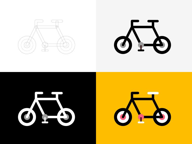 Bike Illustration Rebound athletic sport logo icon flat minimal shape lines rebound illustration bike