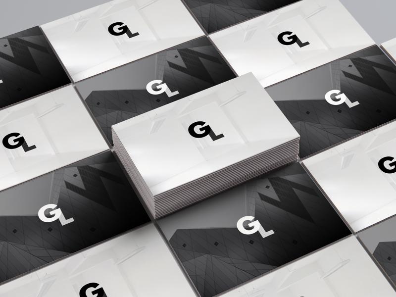 Monogram Logo Business Card Concept estate real minimal monogram space logo cards card business branding perspective mockup