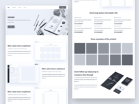 Wireframe Landing Page for Web App