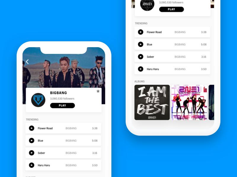 Mobile Music App by Richard Yang on Dribbble
