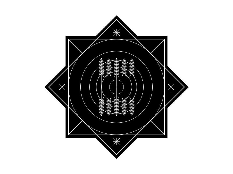 Crop Circle Badge Illustration vector line nature minimal logo icon illustration badge alien circle crop