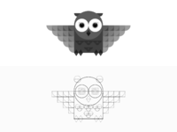 Owl illustration 2x