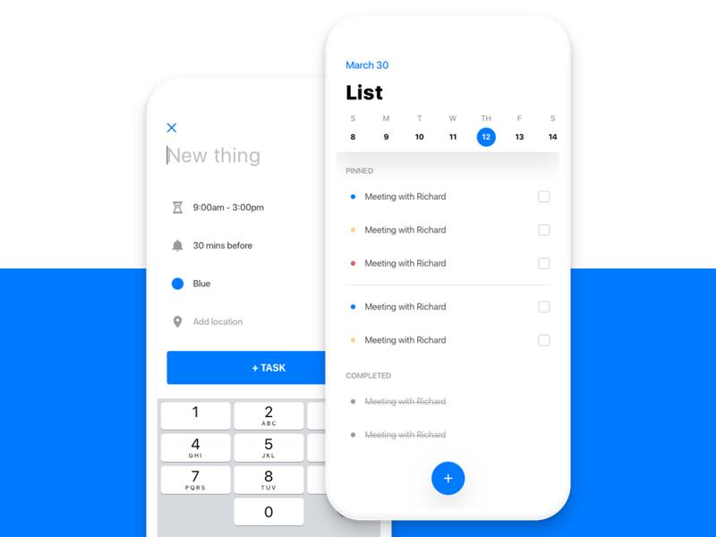 To-Do-List Rebound event calendar write task list do to ux ui iphone ios rebound