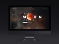 Moon Tour Conceptual Landing Page