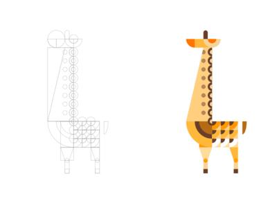 Geometric Giraffe Illustration