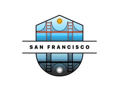 San Francisco Sun & Moon Illustration