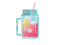 Sangria Mason Jar Illustration wine alcohol water flat logo icon vector illustration icons drink sangria fruit