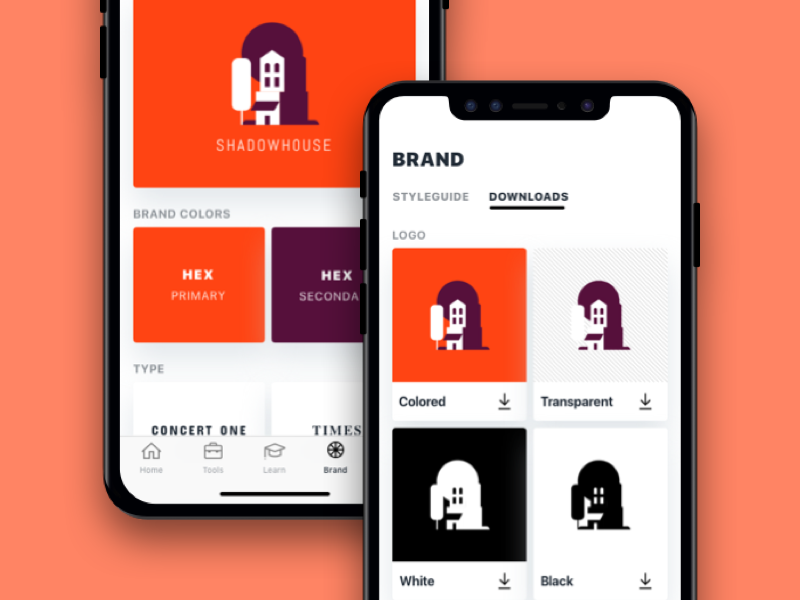 Branding Toolbox Mobile Concept learn download flat ios iphone icon logo font color brand app