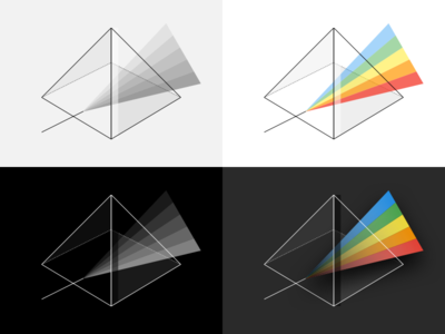 Rainbow Prism Illustration