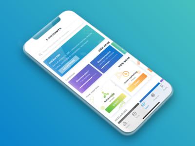 E-course Hub Mobile Concept