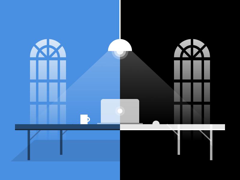 Minimal Monochrome Illustration landscape scene window mac minimal flat logo icon vector illustration background