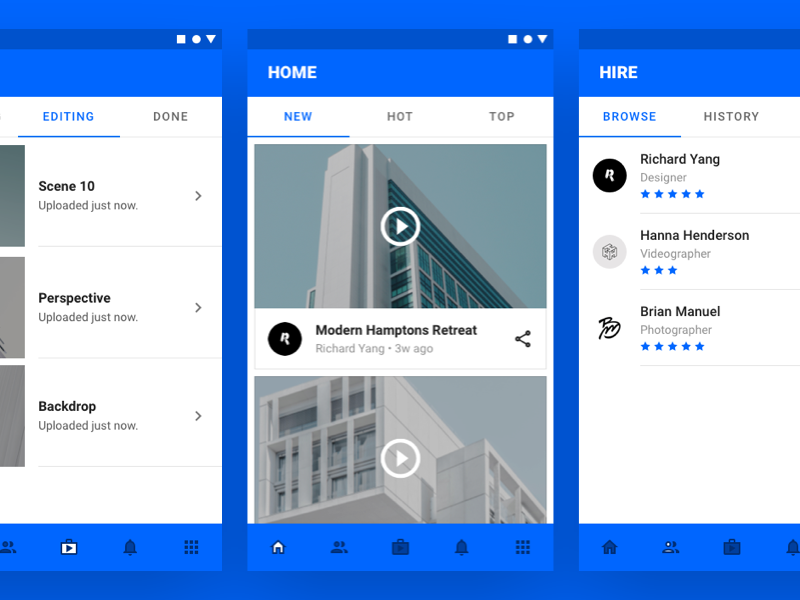 Material Booking App Concept (WIP) ui ux app view tile video book shape android google material