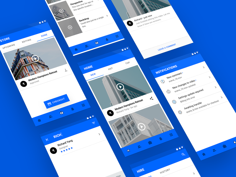 Material Booking App Concept (WIP) Cont'd material google android shape book video tile view app ux ui