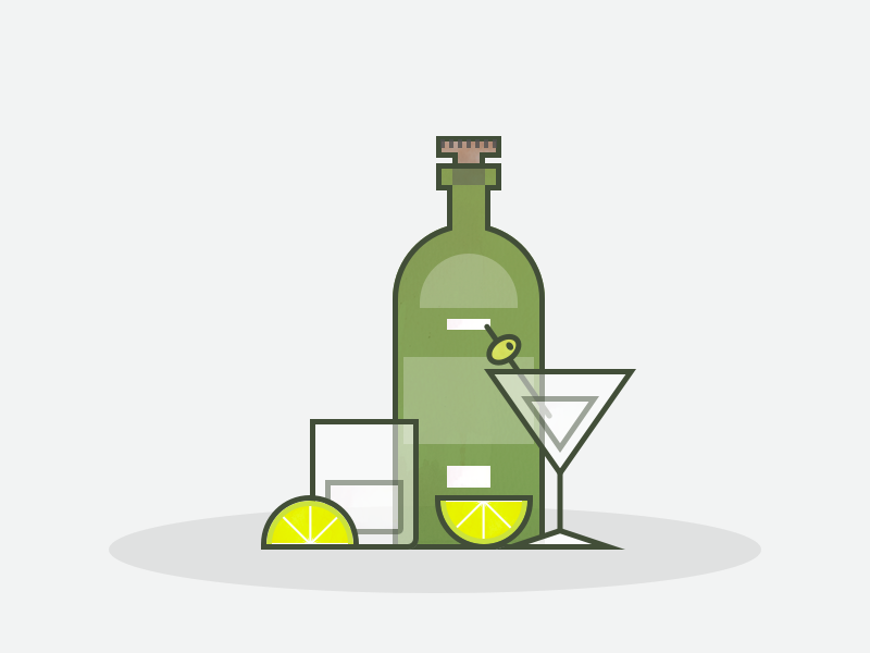 Drinks lime cocktail cock vector flat logo icon illustration bottle alcohol tonic gin