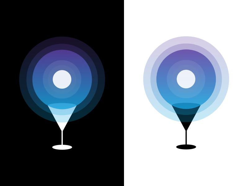 Moon Location Drink cocktail drink logo illustration vector icon mark location moon gradient