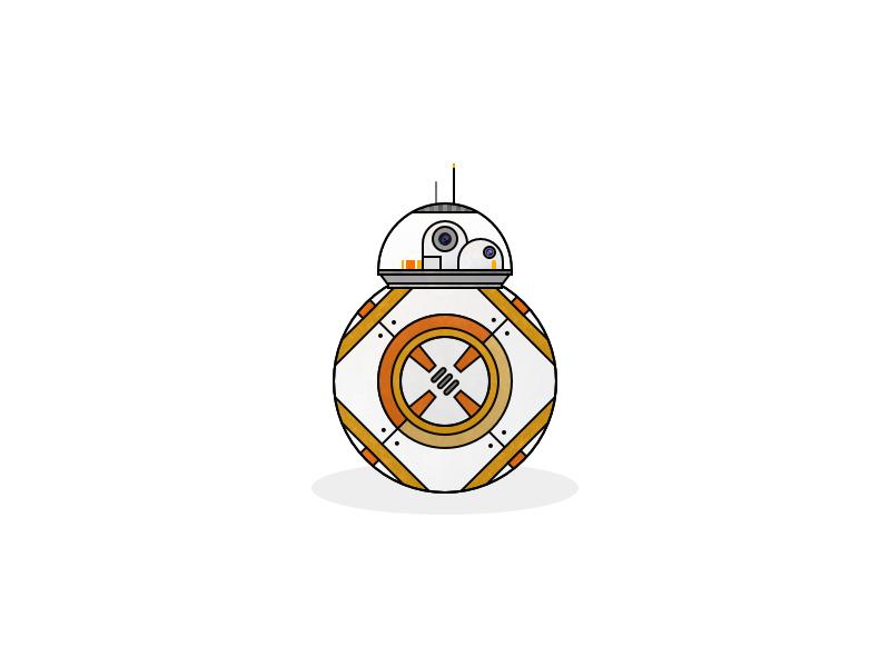 R88 illustration vector logo flat culture pop space wars starwars star bb8 bb8e