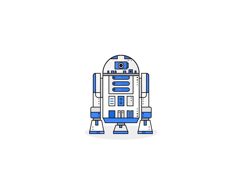 BB8 bb8e bb8 star starwars wars space pop culture flat logo vector illustration